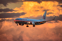 "2013, 737, AA, ""All Rights Reserved"", Aluminum, American, ""American Airlines"", Approach, Arizona, Boeing, Commercial, ""Commercial Aviation"", ""Commercial Jet"", ""Crosswind Images"", Cumulonimbus, Dusk, F"
