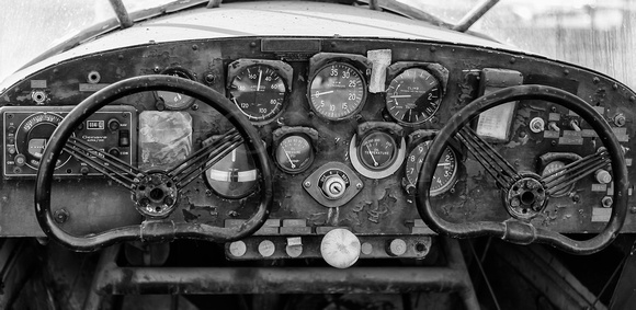 "Abandoned, Aeroplane, Aircraft, Airplane, ""All Rights Reserved"", Art, Aviation, ""Aviation Art"", ""Aviation Photography"", B&W, BW, ""Black & White"", Broken, Control, Controls, ""Crosswind Images"", Dead, D"