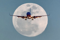 "2015, 737, Aeroplane, Aircraft, Airplane, ""All Rights Reserved"", Approach, Arizona, Boeing, ""Final Approach"", ""Full Moon"", ""Jay Beckman"", Jet, KPHX, Landing, March, Moon, Phoenix, ""Short Final"", ""Sky"